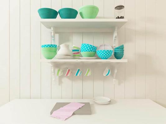 厨房餐具组合餐具3D模型【ID:76908234】