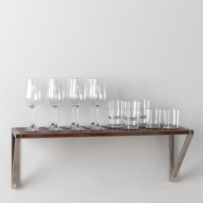 高脚杯玻璃杯餐具3D模型【ID:76932034】