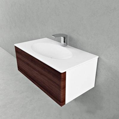 现代简约方形椭圆盆洗手池圆形3D模型【ID:76934875】