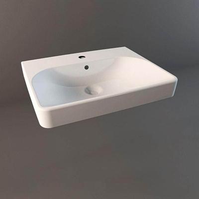 现代简约方形浅盆洗手池1圆形3D模型【ID:76934972】