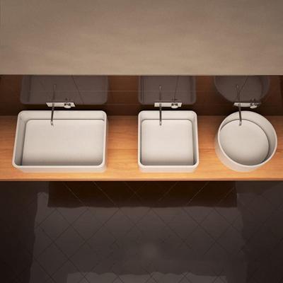 极简主义陶瓷洗手池圆形3D模型【ID:76935270】