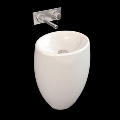 鹅蛋型洗手池圆形3D模型【ID:76935276】