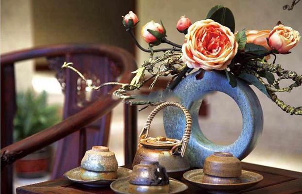 田园风格茶具组合模型3D模型【ID:76945532】