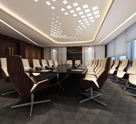现代办公会议室3D模型【ID:76968685】