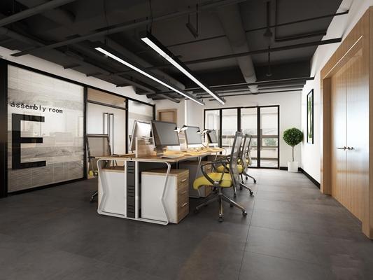 现代办公室3D模型【ID:76979566】