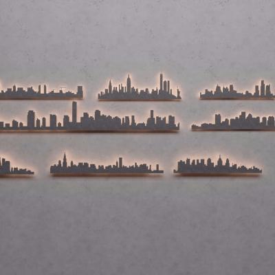 现代墙饰装饰挂件组合3D模型【ID:227782251】