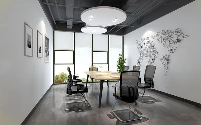 现代会议室3D模型【ID:77058187】