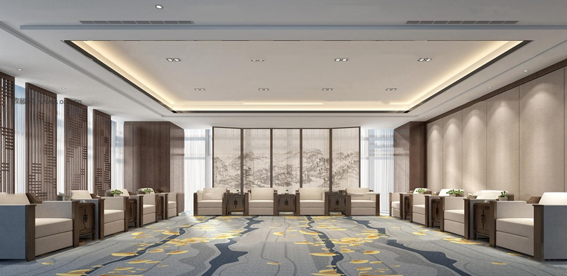 新中式会议室接待室3D模型【ID:77065884】