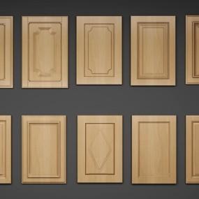简欧实木厨柜门板组合3D模型【ID:77067057】