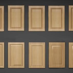 现代实木厨柜门板组合3D模型【ID:77067150】