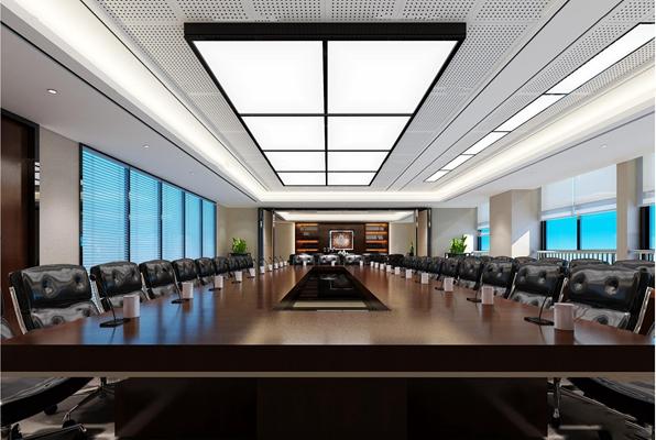 现代会议室3D模型【ID:77068583】