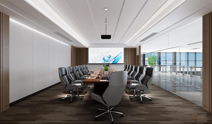 现代会议室3D模型【ID:77068781】