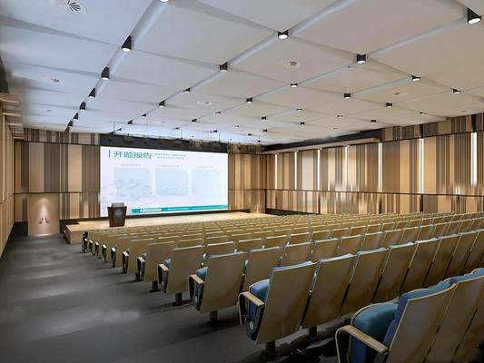 现代会议报告厅3D模型【ID:77073786】