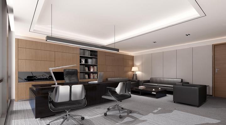 现代总经理办公室3D模型【ID:77079854】