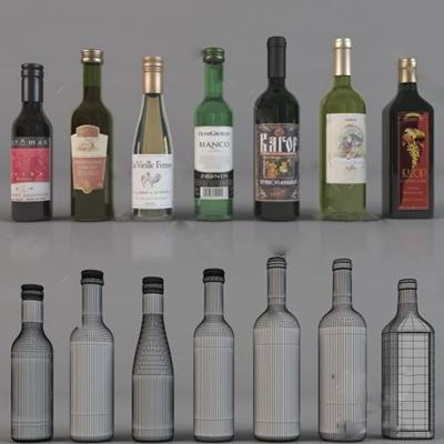酒瓶3D模型【ID:77089734】