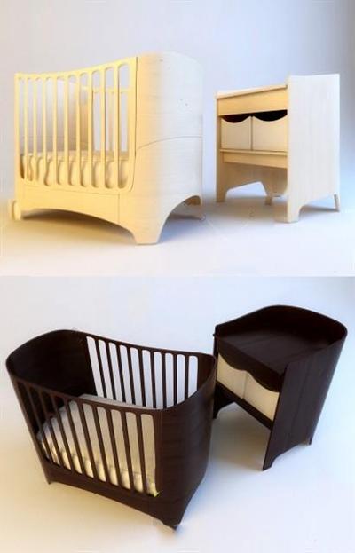 婴儿床3D模型【ID:77092319】