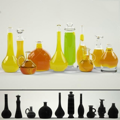 酒瓶3D模型【ID:77092834】