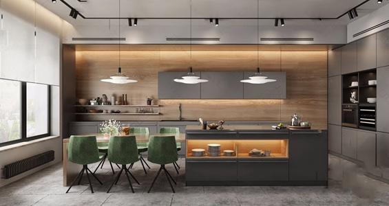 现代厨房3D模型【ID:120835436】