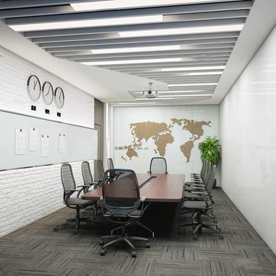 现代会议室3D模型【ID:77162253】