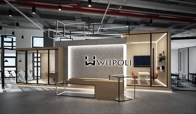 现代办公室前台会议室组合3D模型【ID:77162352】