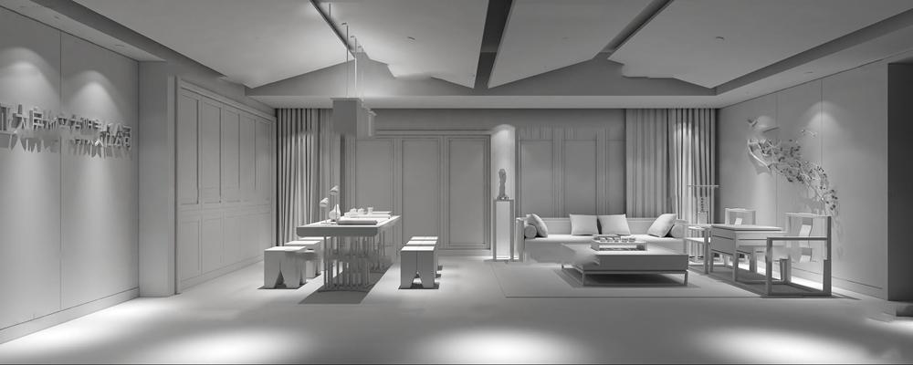 新中式总经理办公室3D模型【ID:719741551】