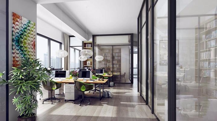 现代办公室3D模型【ID:77162653】