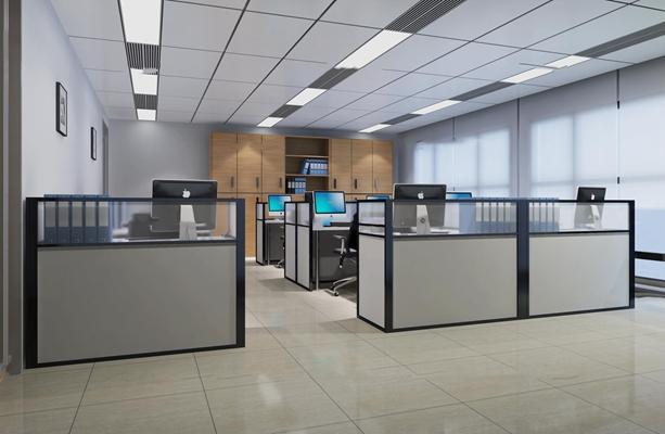 现代办公室3D模型【ID:77177465】