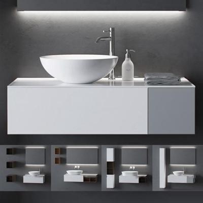现代洗手盆摆件组合3d模型【ID:77183878】