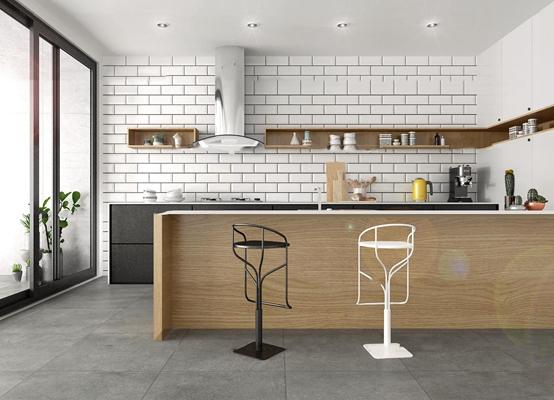 现代厨房吧台3D模型【ID:77190931】