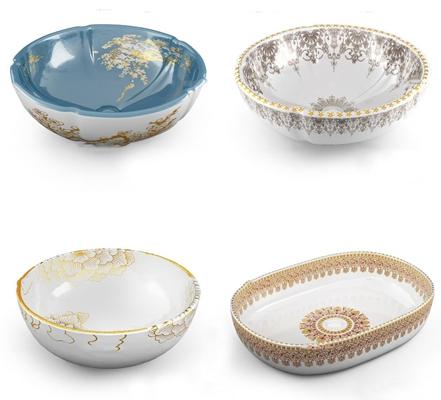 中式陶瓷洗手台3D模型【ID:77191175】
