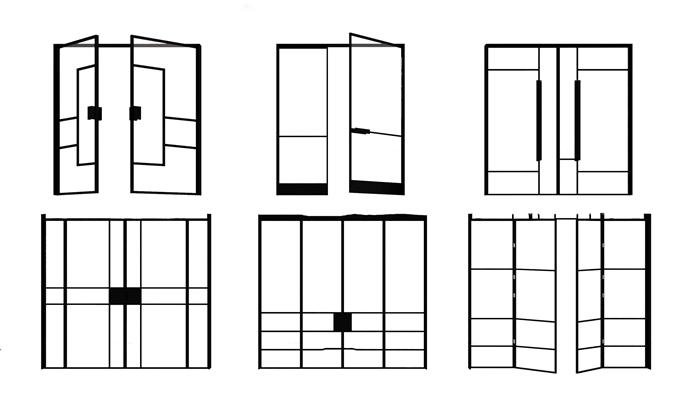 现代玻璃门商场推拉门3D模型【ID:77195654】
