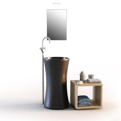 现代洗手台卫浴柜组合3D模型【ID:77200471】
