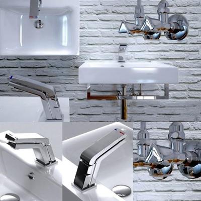 现代台盆洗手台3D模型【ID:77206574】