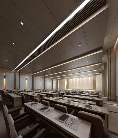 现代会议报告厅3D模型【ID:77216681】