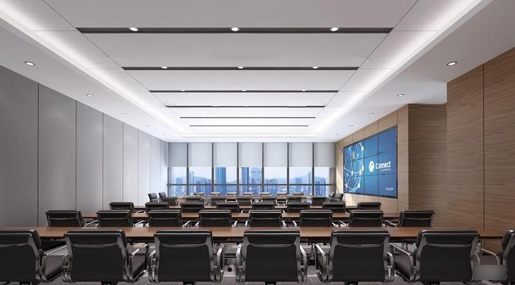 现代会议室3D模型【ID:77239386】