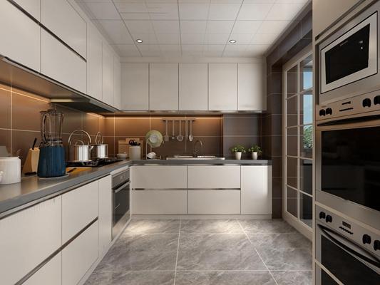 现代厨房厨具3D模型【ID:77242939】