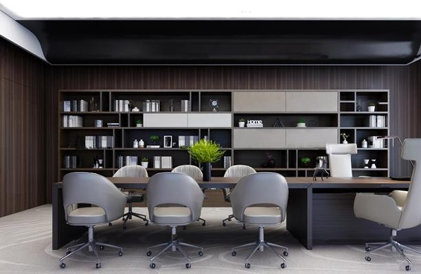 现代总经理办公室3d模型【ID:77246657】