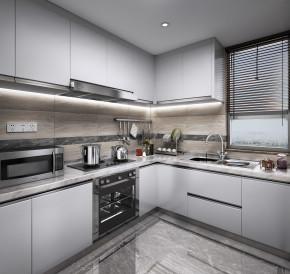 现代厨房橱柜3D模型【ID:927816507】