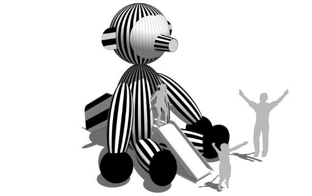 兒童滑梯SU模型【ID:948604657】