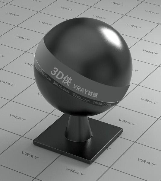黑色陶瓷Vray材质【ID:736459713】