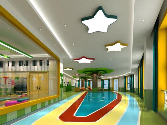 现代幼儿园3D模型【ID:324895145】