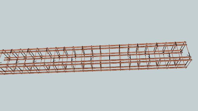 在铁笼子中的梁、柱混凝土SU模型【ID:439919083】