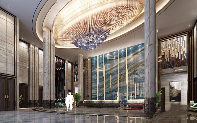 新中式酒店大厅3D模型【ID:428263262】