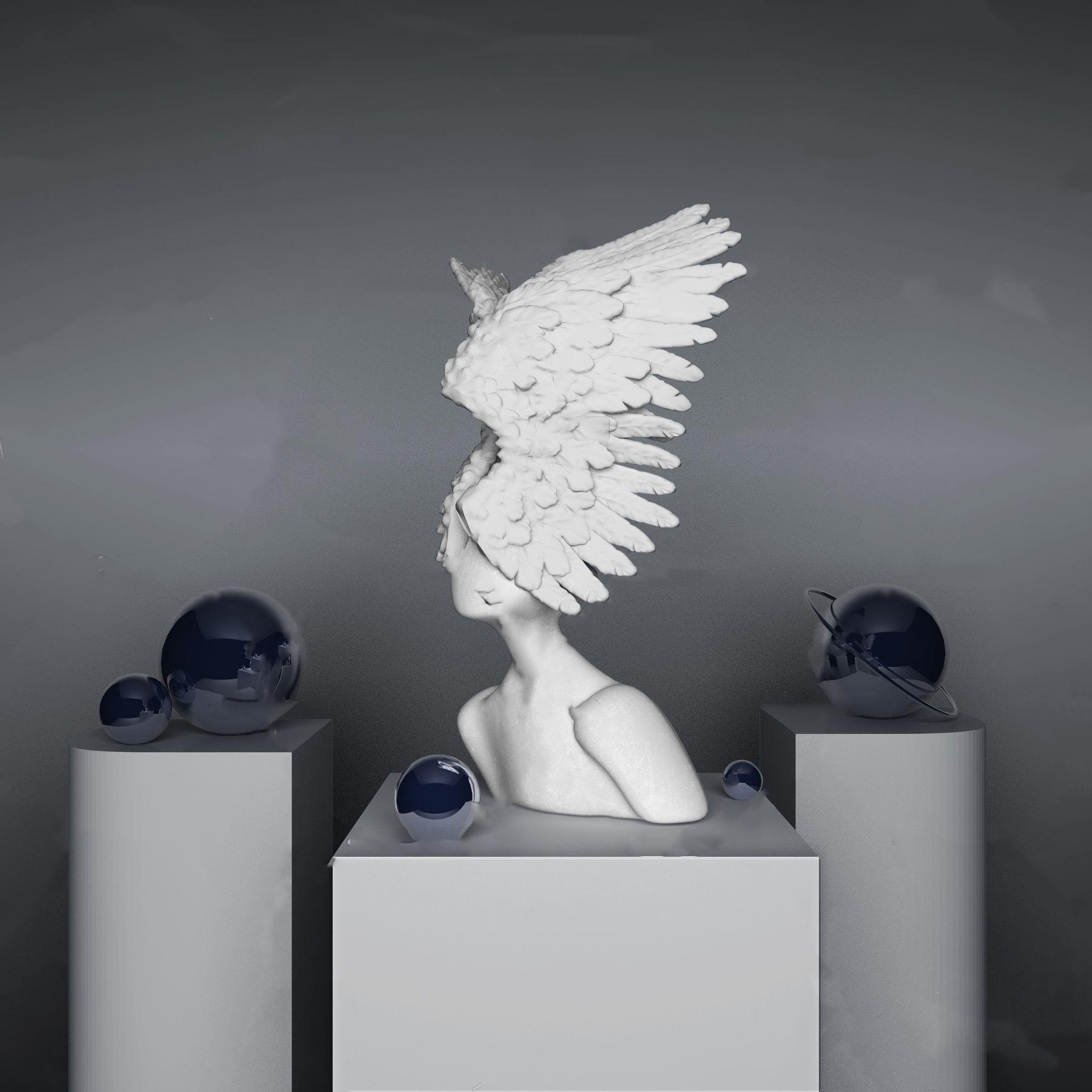現代人物雕塑擺件3D模型【ID:343349186】
