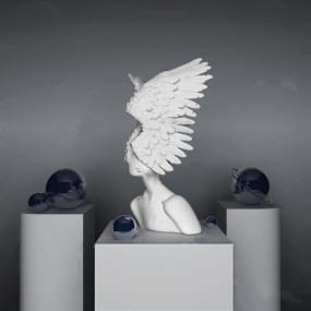 现代人物雕塑摆件3d模型【ID:343349186】
