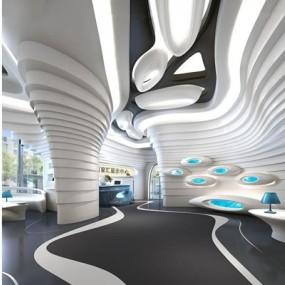 现代展厅3D模型【ID:528004481】