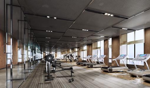 现代健身房3D模型【ID:420801681】