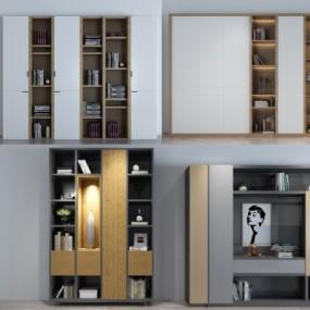 现代实木衣柜装饰柜组合3D模型【ID:928563211】