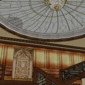 圓頂 樓梯 拱頂 蒙古包 樓梯扶手 【ID:538224480】