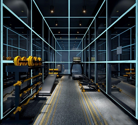 工業風健身房3D模型【ID:927989694】